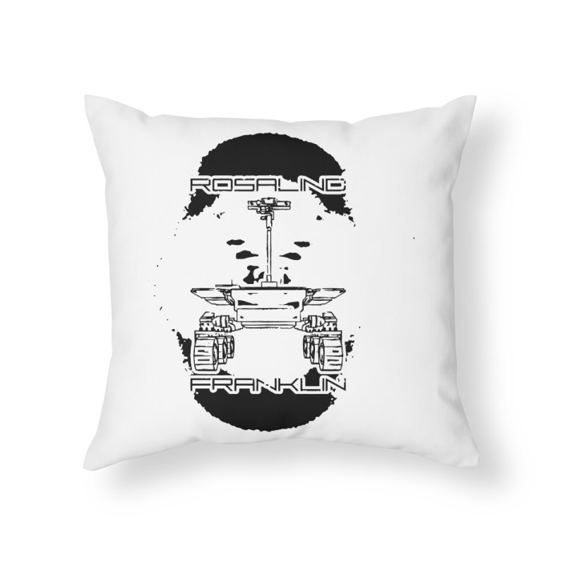 Rosalind Franklin Rover Home Throw Pillow by Photon Illustration's Artist Shop