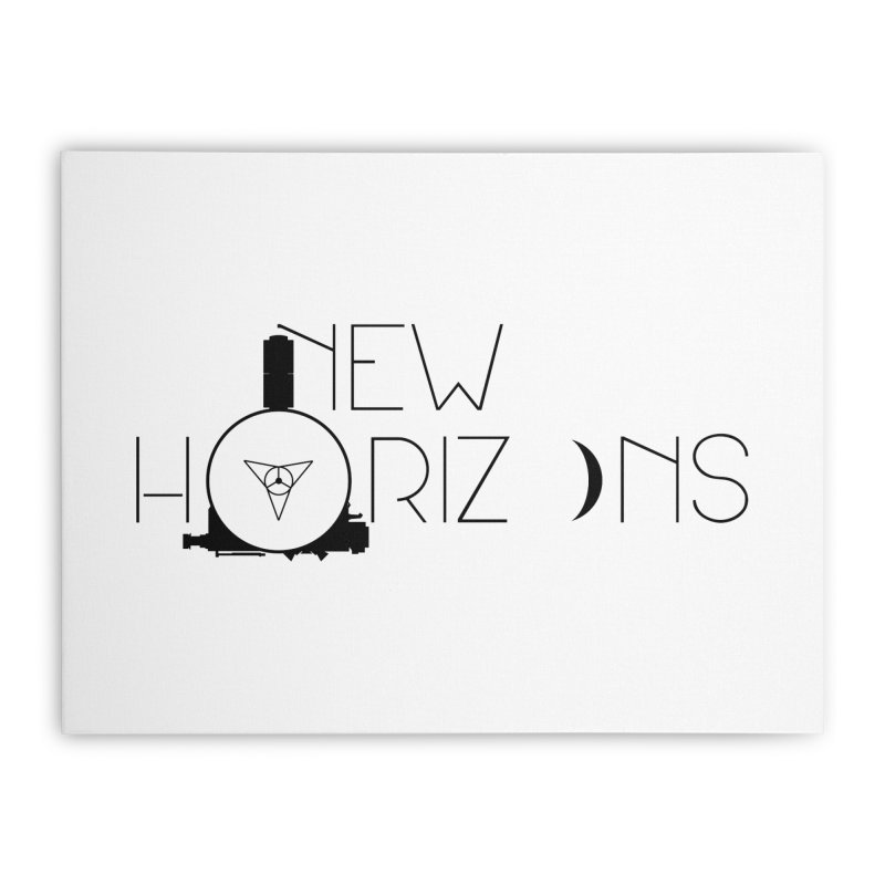 New Horizons Home Stretched Canvas by Photon Illustration's Artist Shop