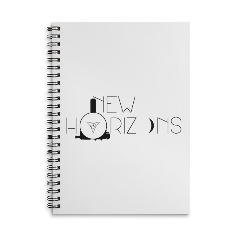 New Horizons Accessories Lined Spiral Notebook by Photon Illustration's Artist Shop