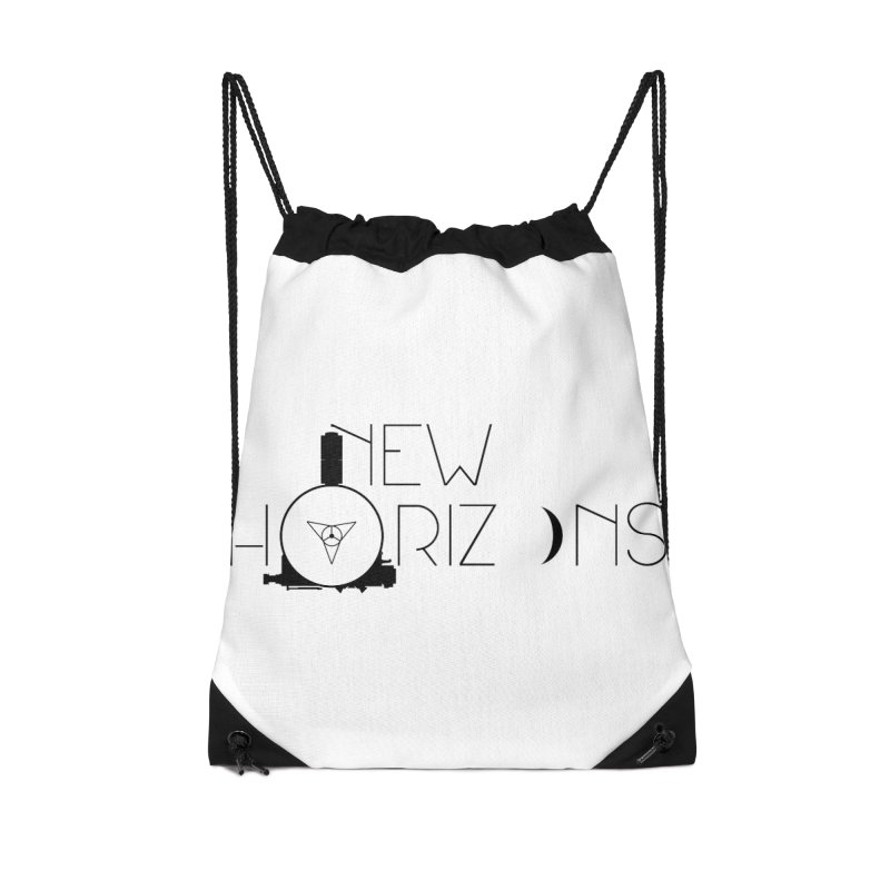 New Horizons Accessories Drawstring Bag Bag by Photon Illustration's Artist Shop