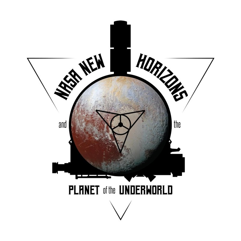 New Horizons and the Planet of the Underworld Men's T-Shirt by Photon Illustration's Artist Shop