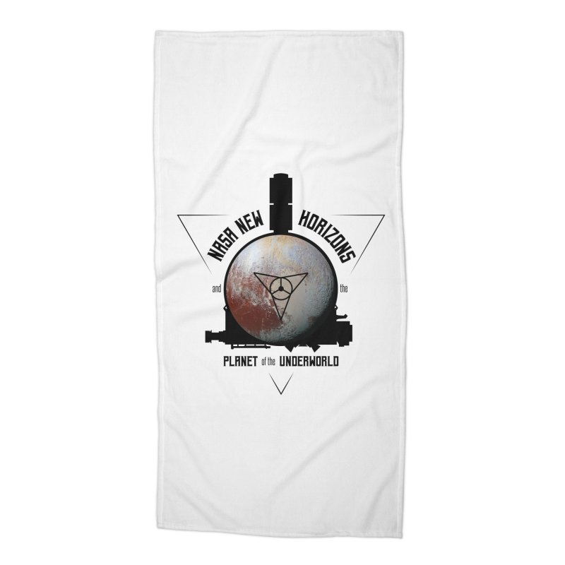 New Horizons and the Planet of the Underworld Accessories Beach Towel by Photon Illustration's Artist Shop