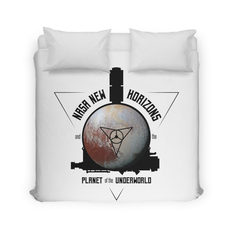 New Horizons and the Planet of the Underworld Home Duvet by Photon Illustration's Artist Shop