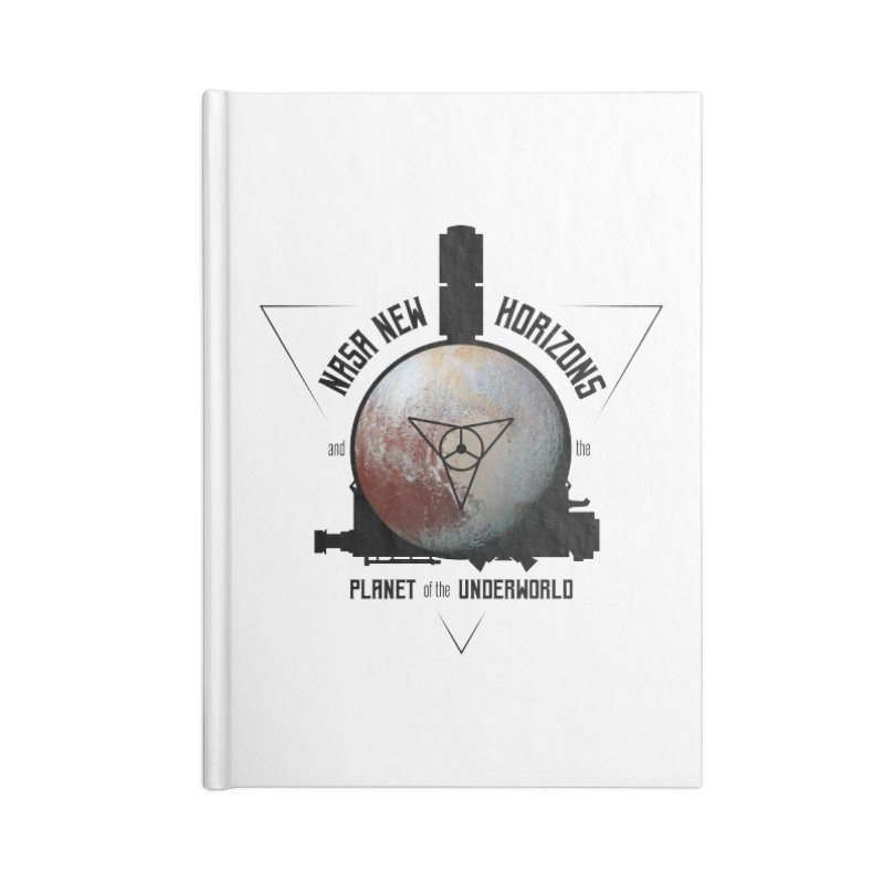 New Horizons and the Planet of the Underworld Accessories Blank Journal Notebook by Photon Illustration's Artist Shop