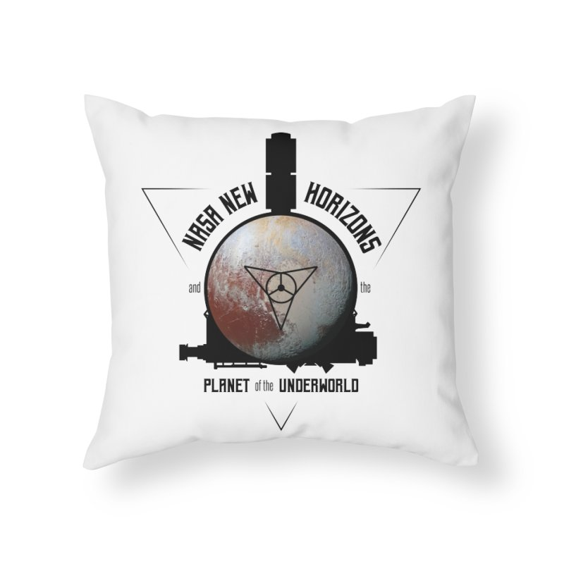 New Horizons and the Planet of the Underworld Home Throw Pillow by Photon Illustration's Artist Shop