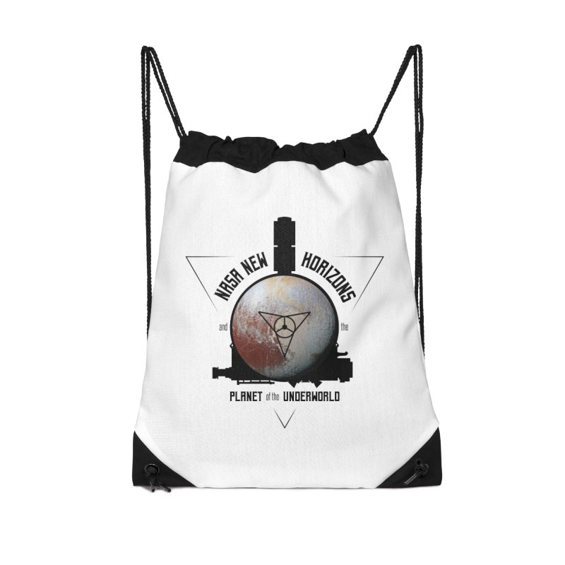 New Horizons and the Planet of the Underworld Accessories Drawstring Bag Bag by Photon Illustration's Artist Shop