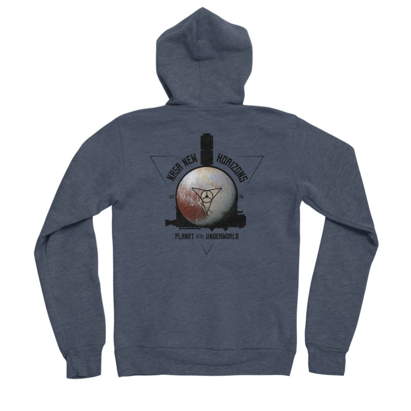 New Horizons and the Planet of the Underworld Women's Sponge Fleece Zip-Up Hoody by Photon Illustration's Artist Shop