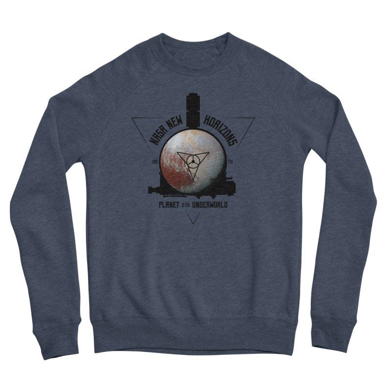 New Horizons and the Planet of the Underworld Men's Sponge Fleece Sweatshirt by Photon Illustration's Artist Shop