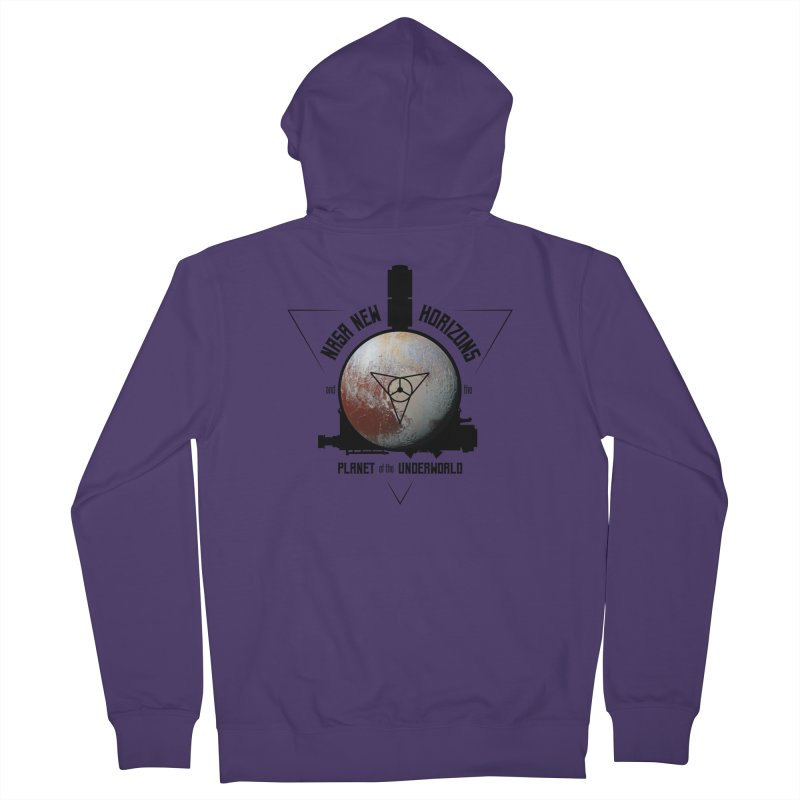 New Horizons and the Planet of the Underworld Women's Zip-Up Hoody by Photon Illustration's Artist Shop