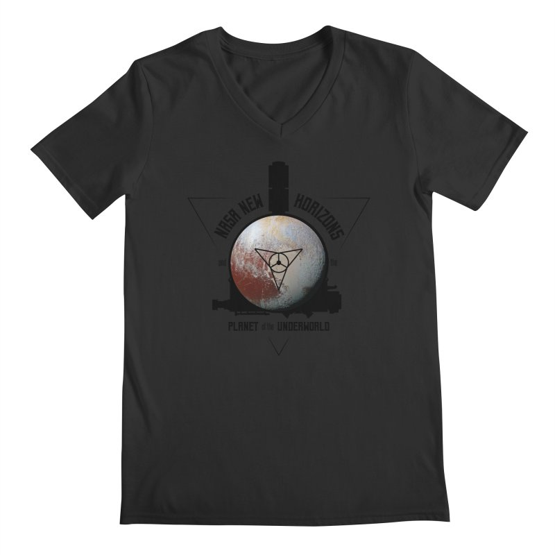 New Horizons and the Planet of the Underworld Men's V-Neck by Photon Illustration's Artist Shop
