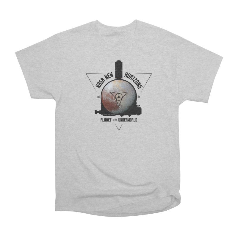 New Horizons and the Planet of the Underworld Women's Heavyweight Unisex T-Shirt by Photon Illustration's Artist Shop