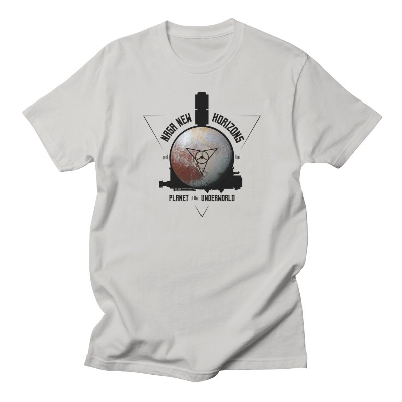 New Horizons and the Planet of the Underworld Men's Regular T-Shirt by Photon Illustration's Artist Shop