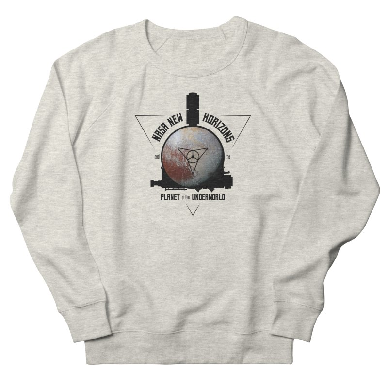 New Horizons and the Planet of the Underworld Men's French Terry Sweatshirt by Photon Illustration's Artist Shop