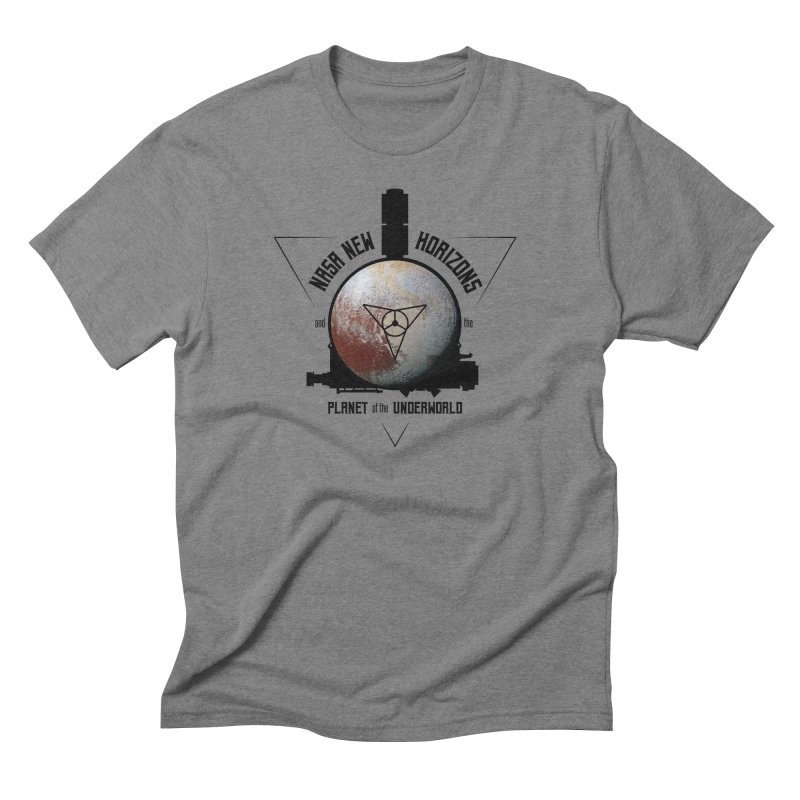 New Horizons and the Planet of the Underworld Men's Triblend T-Shirt by Photon Illustration's Artist Shop