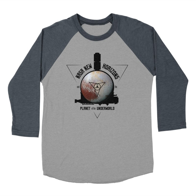 New Horizons and the Planet of the Underworld Men's Baseball Triblend Longsleeve T-Shirt by Photon Illustration's Artist Shop