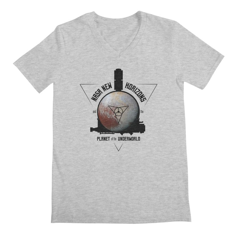 New Horizons and the Planet of the Underworld Men's Regular V-Neck by Photon Illustration's Artist Shop