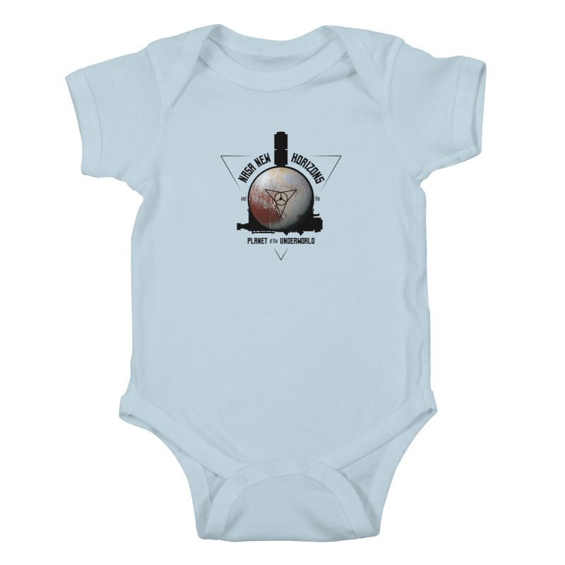 New Horizons and the Planet of the Underworld Kids Baby Bodysuit by Photon Illustration's Artist Shop