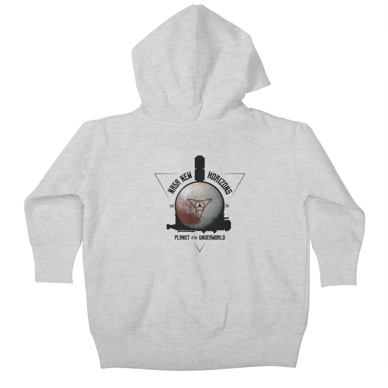 New Horizons and the Planet of the Underworld Kids Baby Zip-Up Hoody by Photon Illustration's Artist Shop