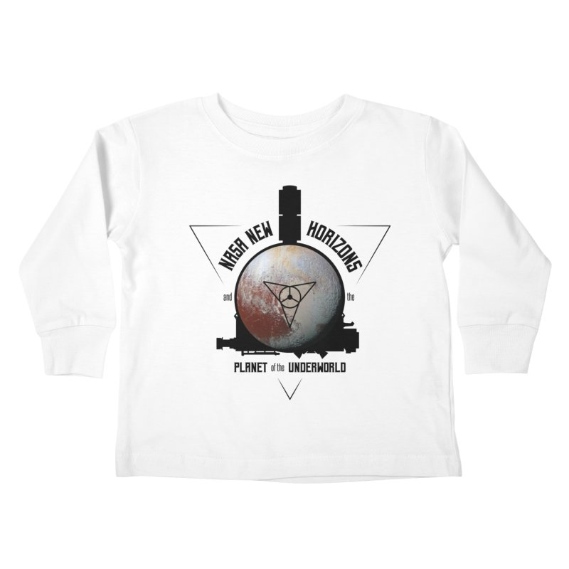 New Horizons and the Planet of the Underworld Kids Toddler Longsleeve T-Shirt by Photon Illustration's Artist Shop