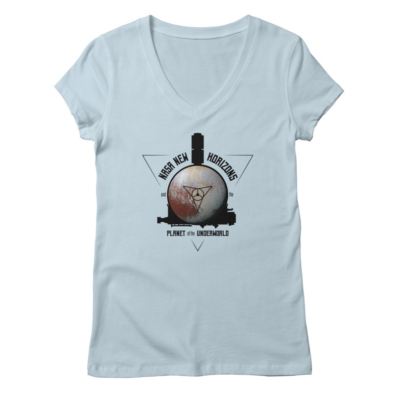 New Horizons and the Planet of the Underworld Women's V-Neck by Photon Illustration's Artist Shop