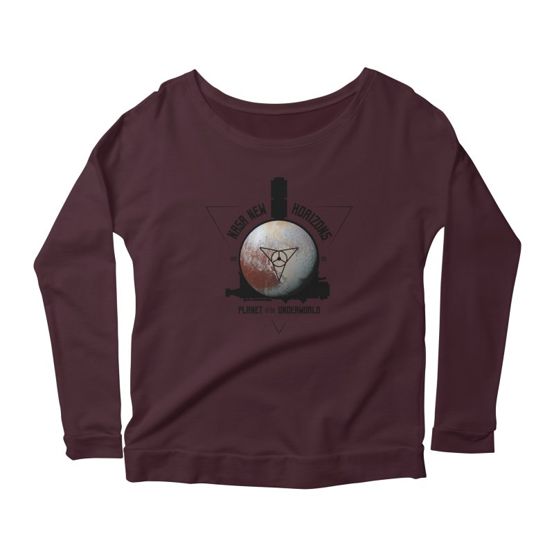 New Horizons and the Planet of the Underworld Women's Scoop Neck Longsleeve T-Shirt by Photon Illustration's Artist Shop