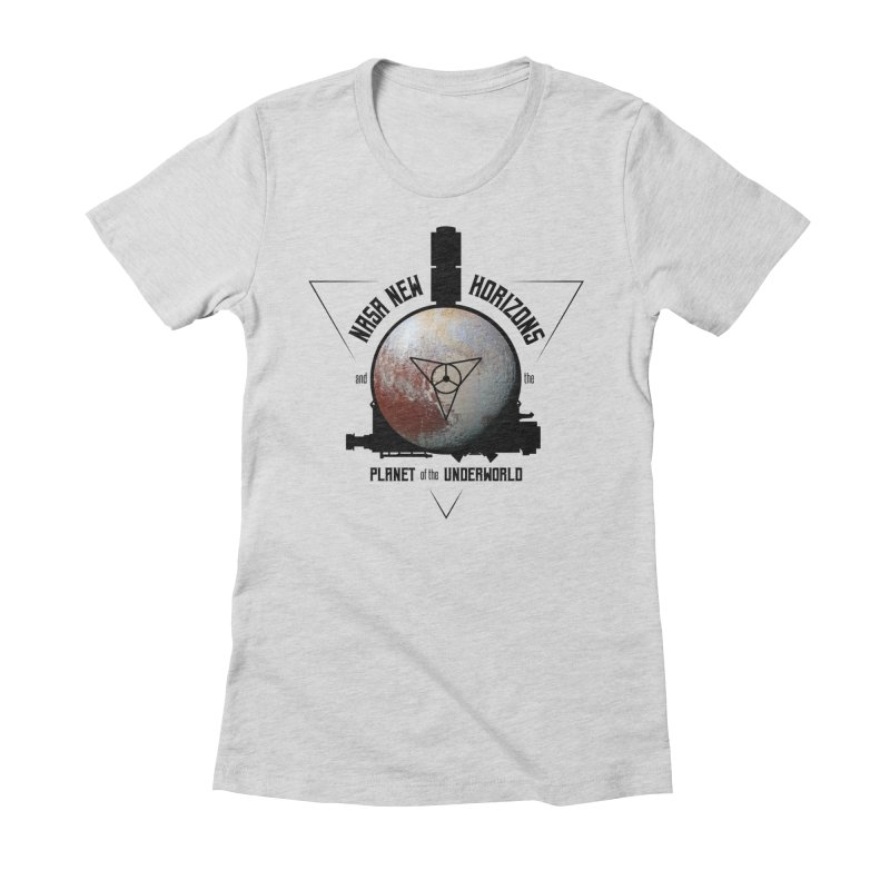 New Horizons and the Planet of the Underworld Women's Fitted T-Shirt by Photon Illustration's Artist Shop