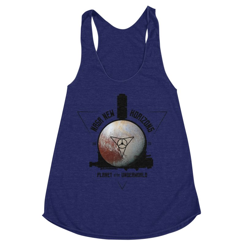 New Horizons and the Planet of the Underworld Women's Racerback Triblend Tank by Photon Illustration's Artist Shop