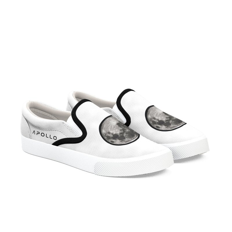 Apollo: Moon Men's Slip-On Shoes by Photon Illustration's Artist Shop