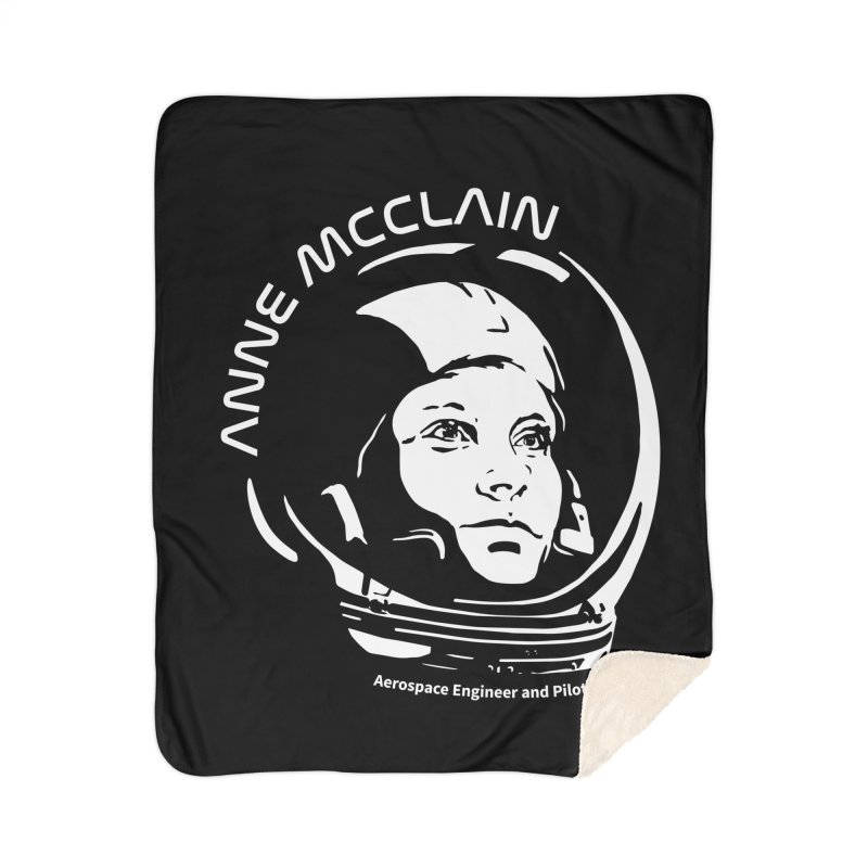 Women in Space: Anne McClain Home Sherpa Blanket Blanket by Photon Illustration's Artist Shop