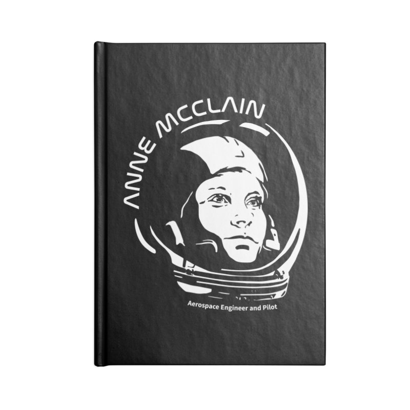 Women in Space: Anne McClain Accessories Lined Journal Notebook by Photon Illustration's Artist Shop