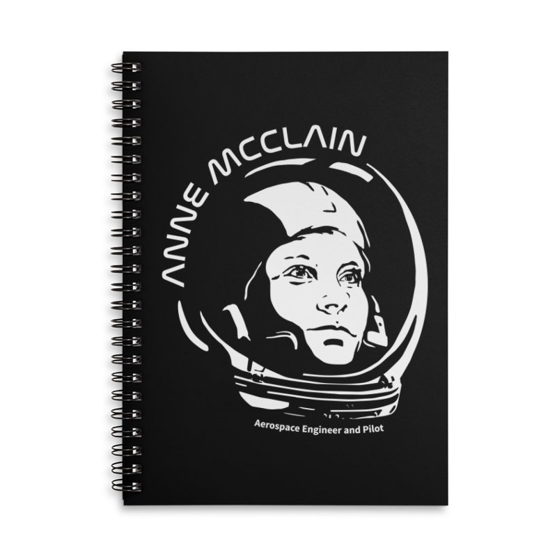 Women in Space: Anne McClain Accessories Lined Spiral Notebook by Photon Illustration's Artist Shop