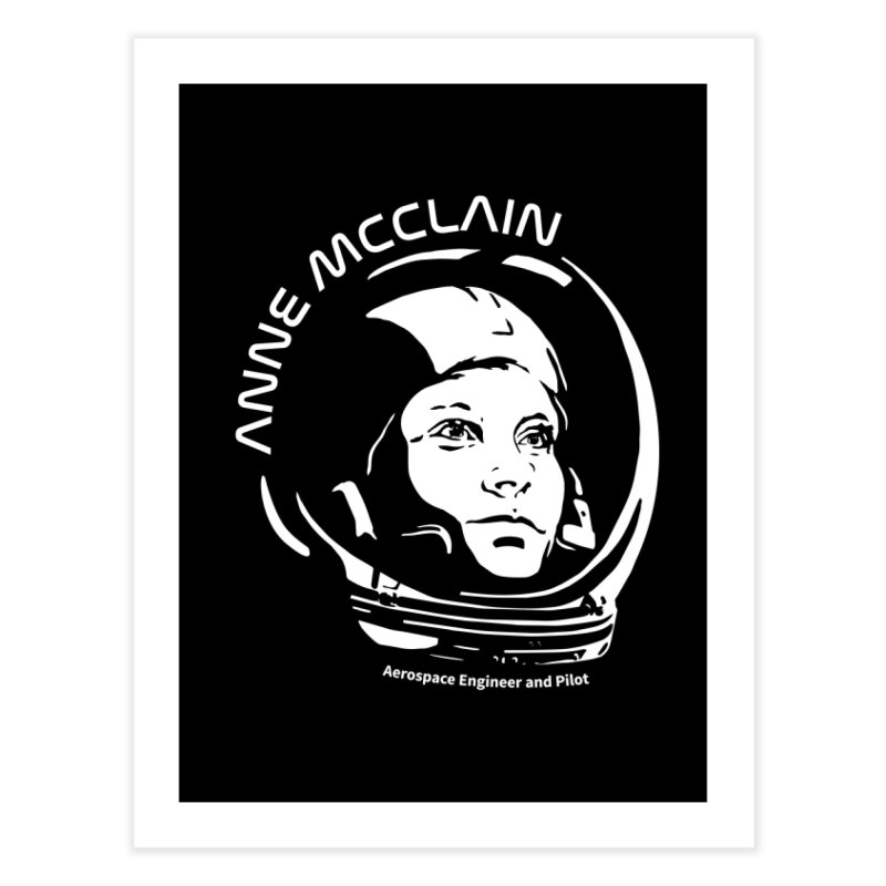 Women in Space: Anne McClain Home Fine Art Print by Photon Illustration's Artist Shop