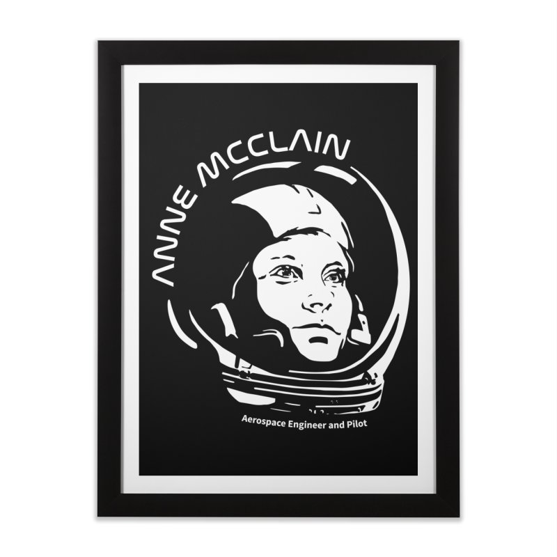 Women in Space: Anne McClain Home Framed Fine Art Print by Photon Illustration's Artist Shop