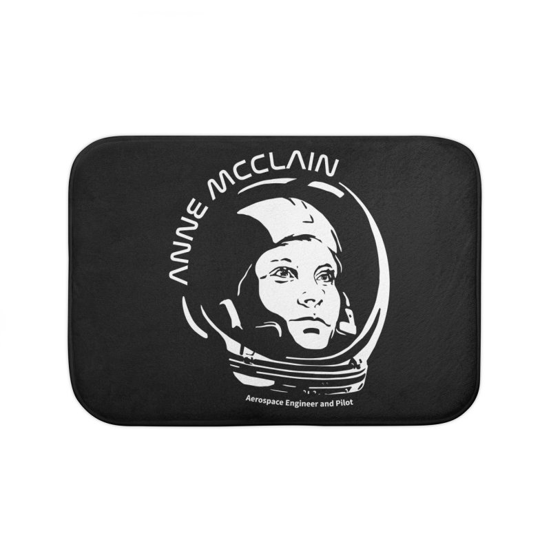 Women in Space: Anne McClain Home Bath Mat by Photon Illustration's Artist Shop