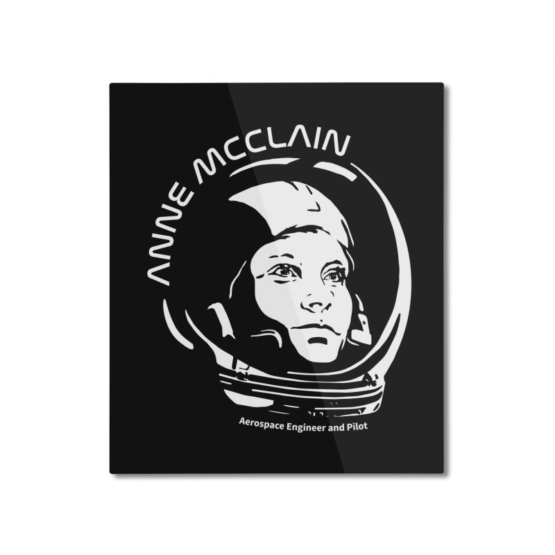Women in Space: Anne McClain Home Mounted Aluminum Print by Photon Illustration's Artist Shop