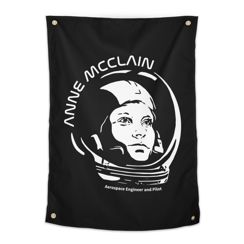 Women in Space: Anne McClain Home Tapestry by Photon Illustration's Artist Shop