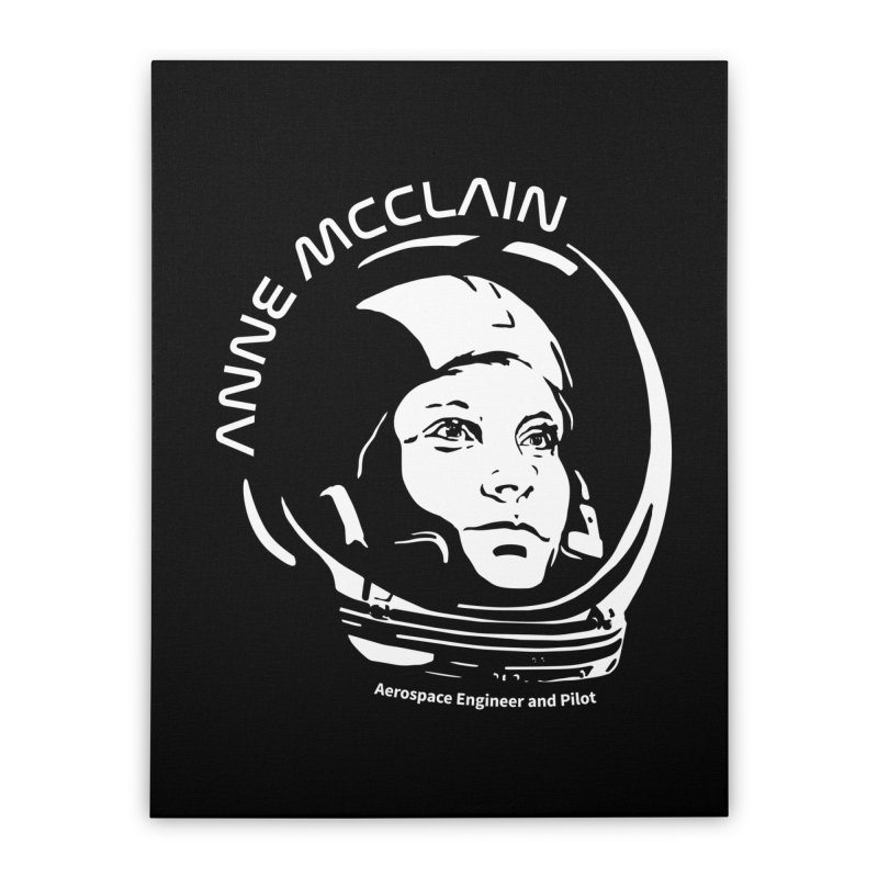 Women in Space: Anne McClain Home Stretched Canvas by Photon Illustration's Artist Shop