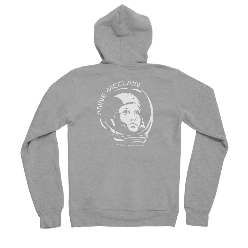 Women in Space: Anne McClain Women's Sponge Fleece Zip-Up Hoody by Photon Illustration's Artist Shop