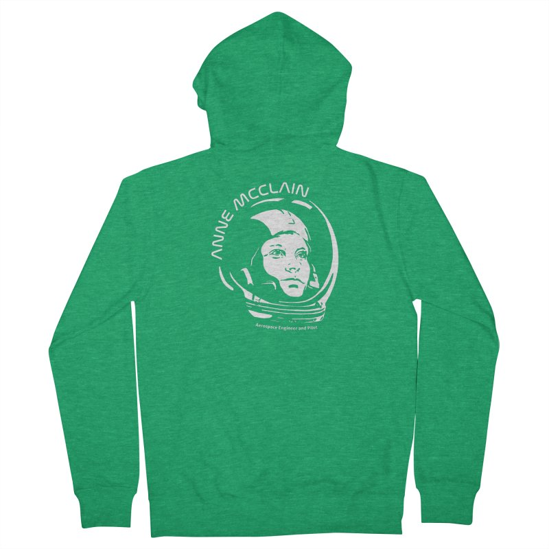 Women in Space: Anne McClain Men's Zip-Up Hoody by Photon Illustration's Artist Shop