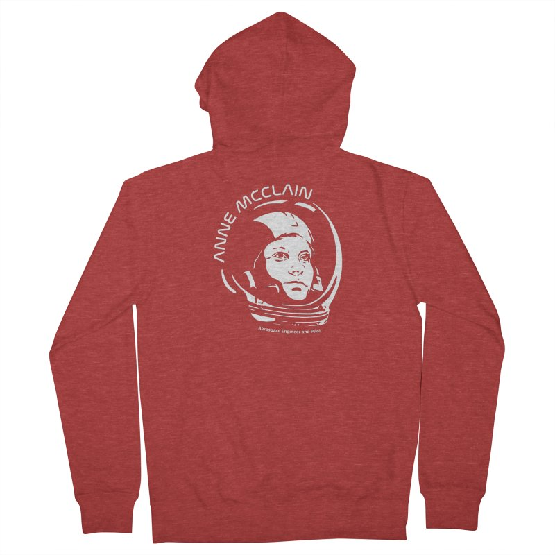 Women in Space: Anne McClain Women's French Terry Zip-Up Hoody by Photon Illustration's Artist Shop