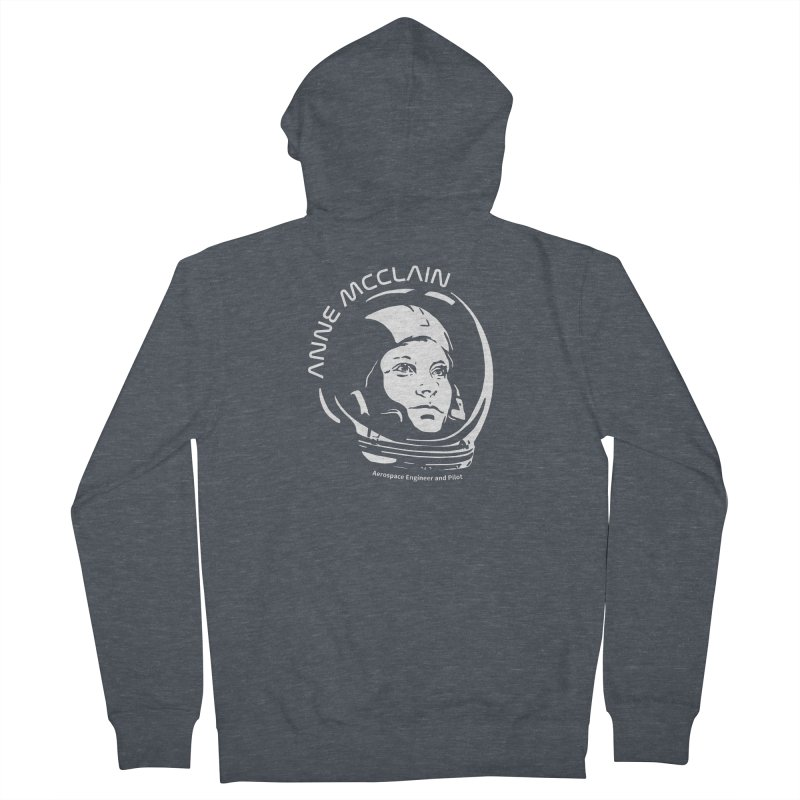 Women in Space: Anne McClain Men's French Terry Zip-Up Hoody by Photon Illustration's Artist Shop