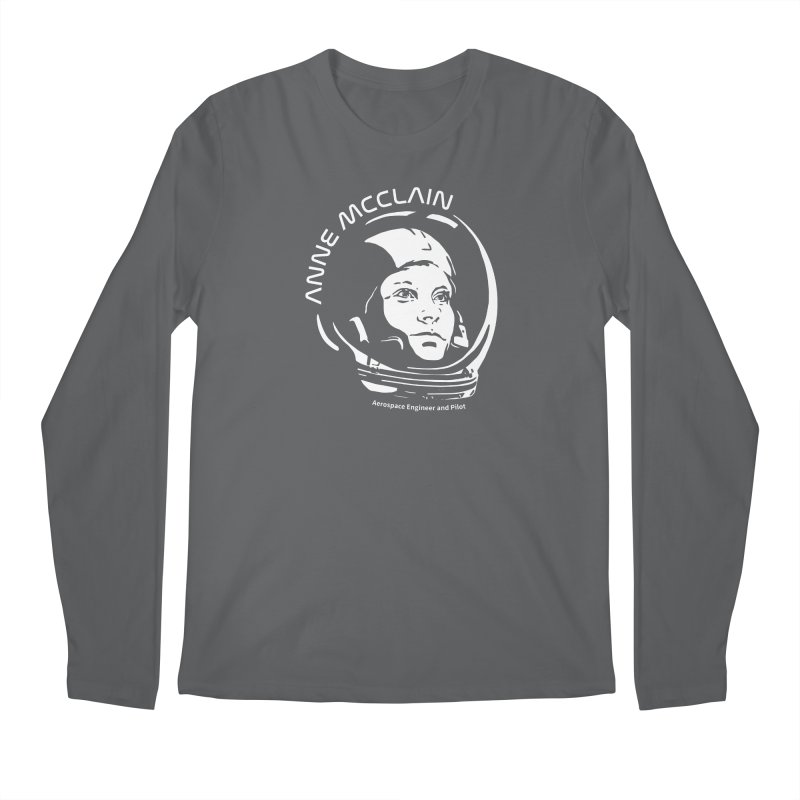 Women in Space: Anne McClain Men's Regular Longsleeve T-Shirt by Photon Illustration's Artist Shop