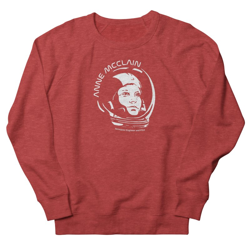Women in Space: Anne McClain Men's French Terry Sweatshirt by Photon Illustration's Artist Shop
