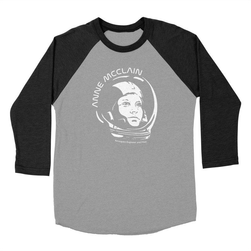 Women in Space: Anne McClain Women's Baseball Triblend Longsleeve T-Shirt by Photon Illustration's Artist Shop