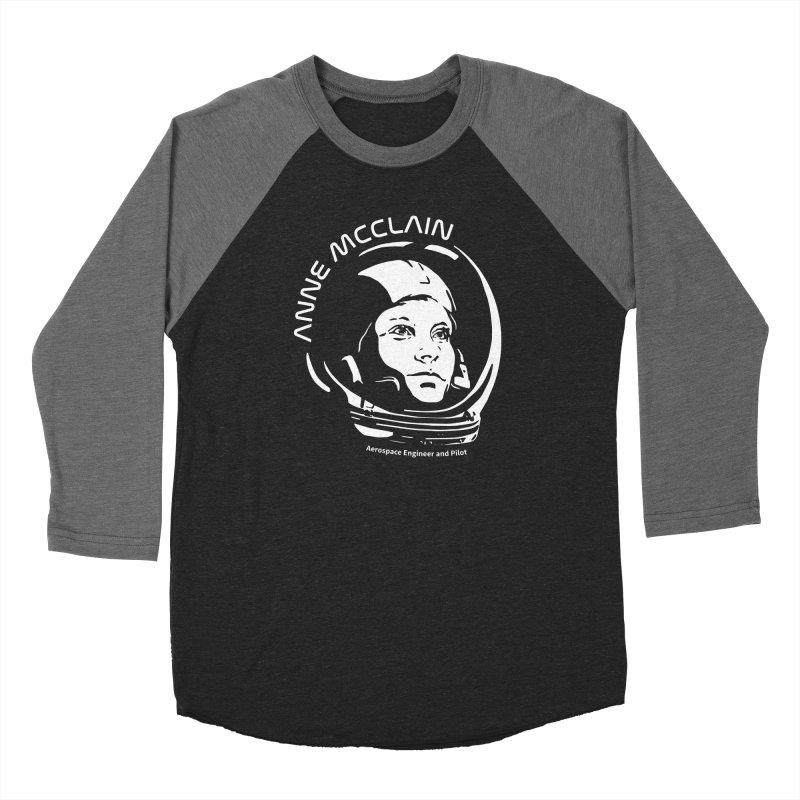 Women in Space: Anne McClain Men's Baseball Triblend Longsleeve T-Shirt by Photon Illustration's Artist Shop