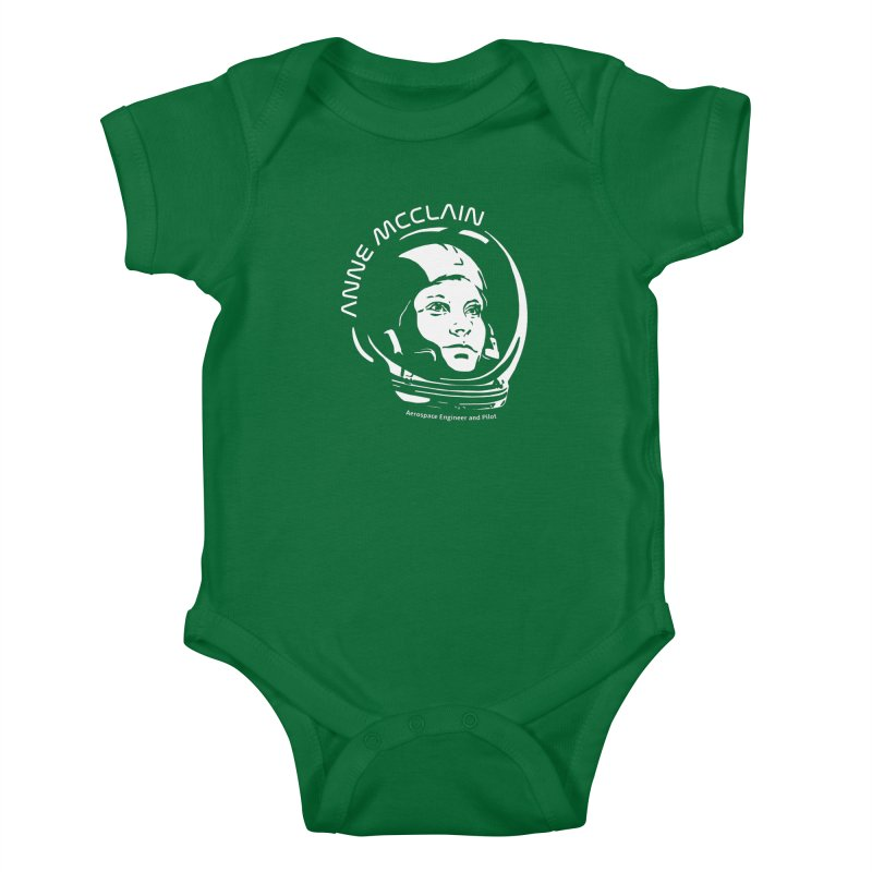 Women in Space: Anne McClain Kids Baby Bodysuit by Photon Illustration's Artist Shop