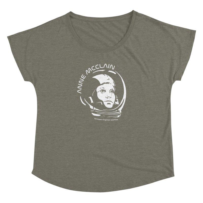 Women in Space: Anne McClain Women's Dolman Scoop Neck by Photon Illustration's Artist Shop