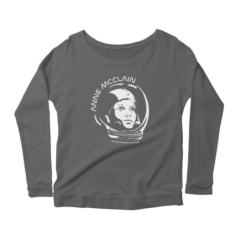 Women in Space: Anne McClain Women's Scoop Neck Longsleeve T-Shirt by Photon Illustration's Artist Shop