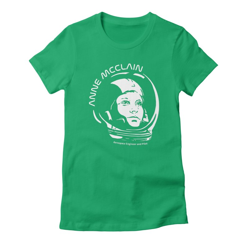 Women in Space: Anne McClain Women's Fitted T-Shirt by Photon Illustration's Artist Shop