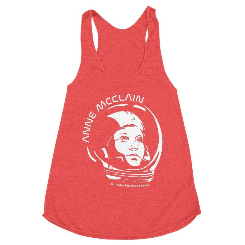 Women in Space: Anne McClain Women's Racerback Triblend Tank by Photon Illustration's Artist Shop